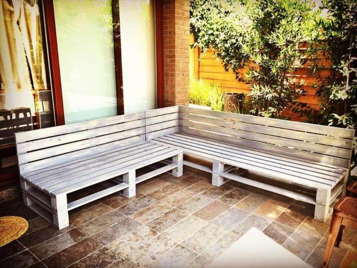 wooden pallet sectional sofa frame