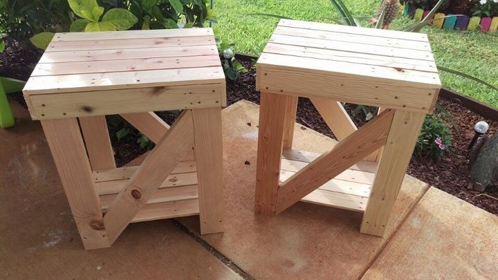 handmade pallet side tables or end tables