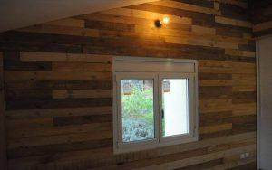 self-installed pallet interior wooden wall