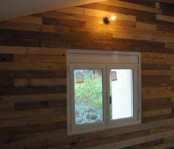 self-installed pallet interior wooden wall