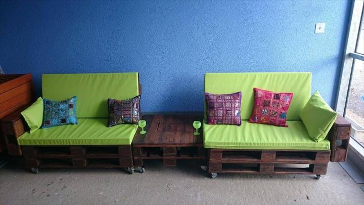 rustic pallet cushion seats