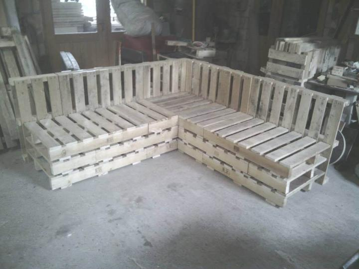 diy pallet sectional sofa frame