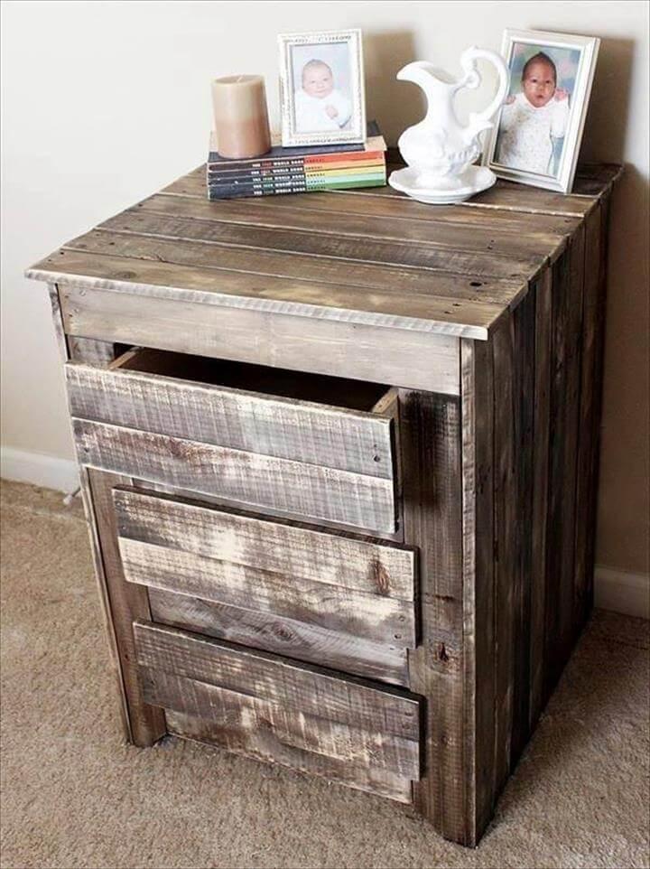 handcrafted pallet nightstand