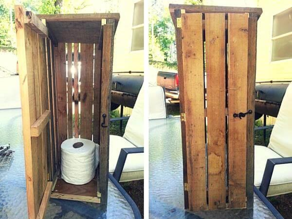 Pallet Toilet Paper Roll Storage Cabinet Easy Pallet Ideas
