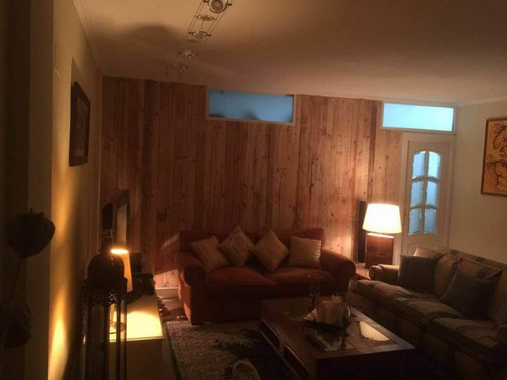 Pallet Wood Wall Paneling - Stairway and Living Room ...