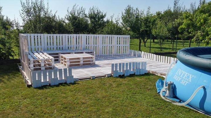 custom pallet garden party lounge