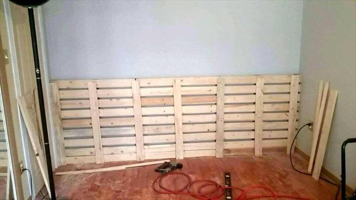 how to build an XL headboard with pallets