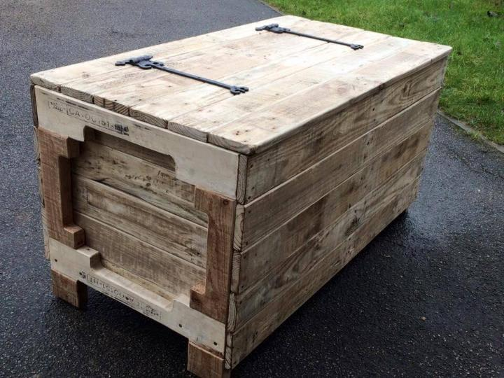 Diy Wooden Pallet Chest Designs Easy Pallet Ideas