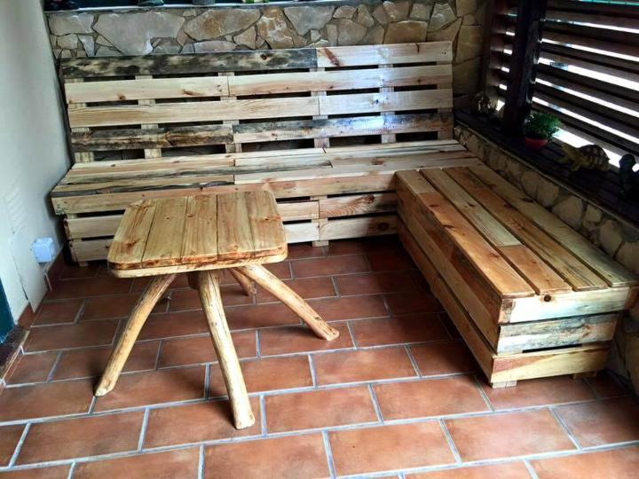 pallet sofa and coffee table