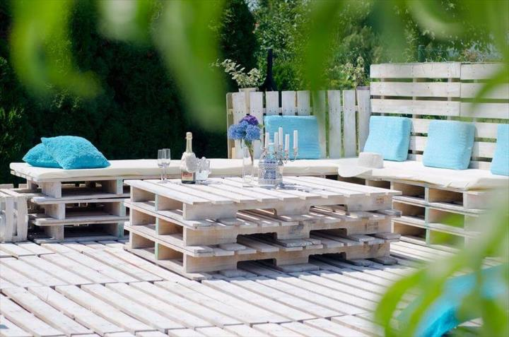 handcrafted pallet terrace party lounge