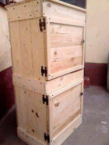 Wood Pallet Beverage Storage Cabinet