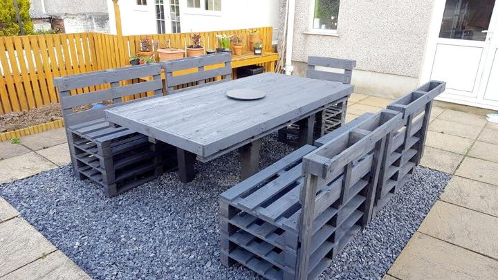 diy pallet patio dining set