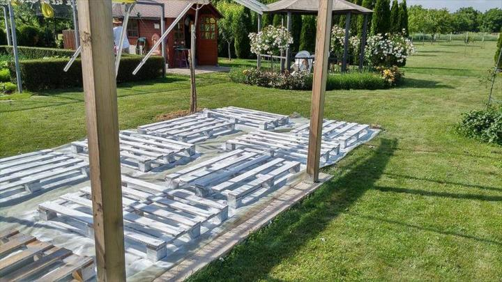 white painted whole pallet boards