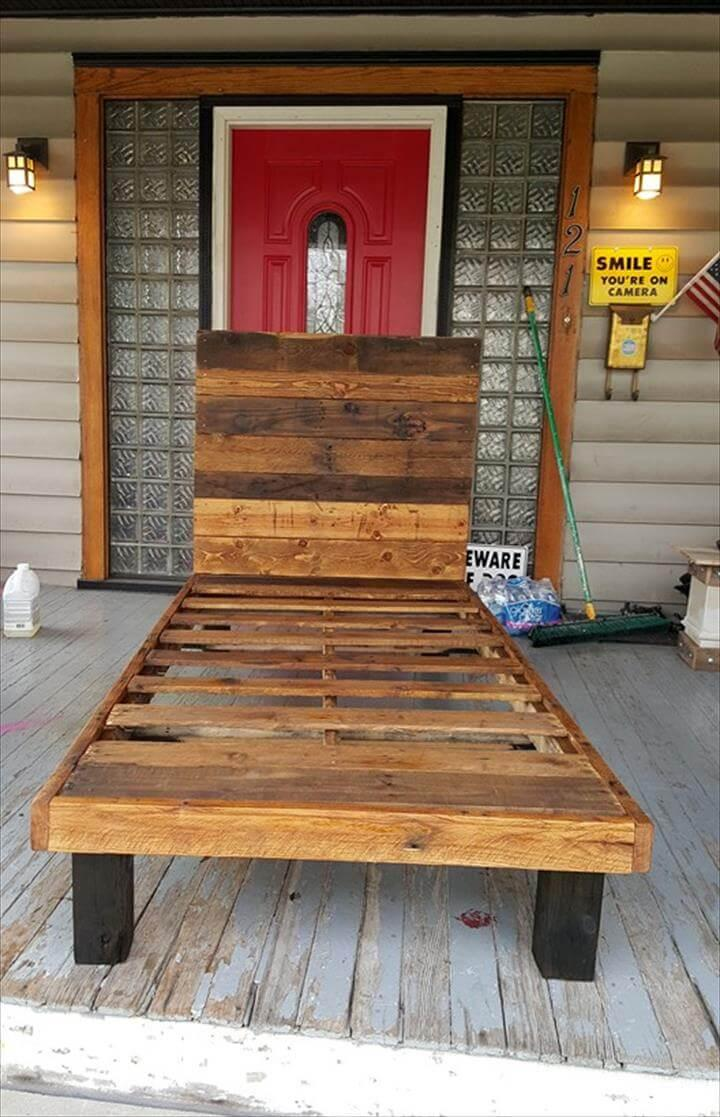 no-cost pallet toddler bed
