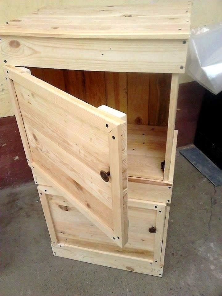 Wood Pallet Beverage Storage Cabinet Easy Pallet Ideas