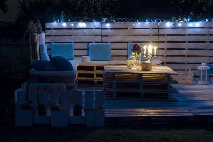 diy pallet garden party lounge