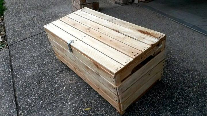 rustic wooden pallet chest