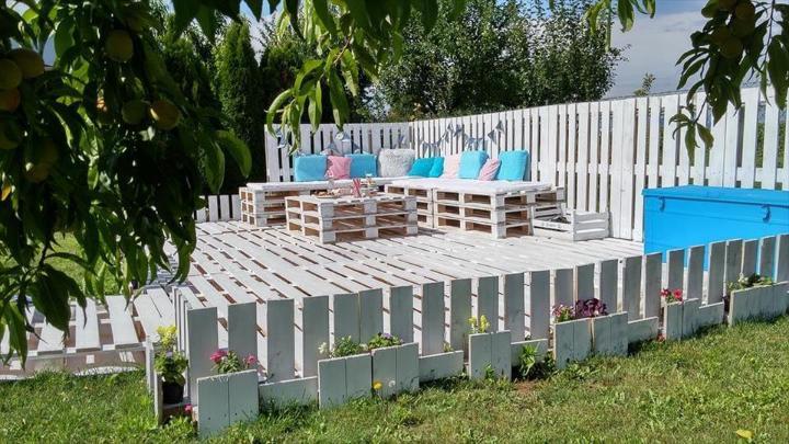 diy pallet garden sofa set