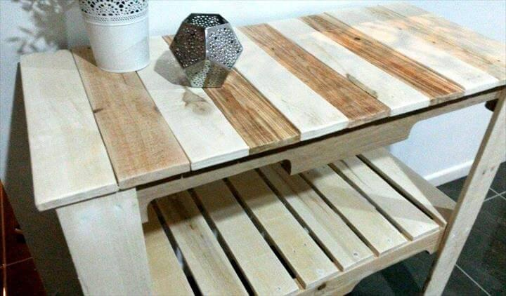 handmade pallet entry or hallway console