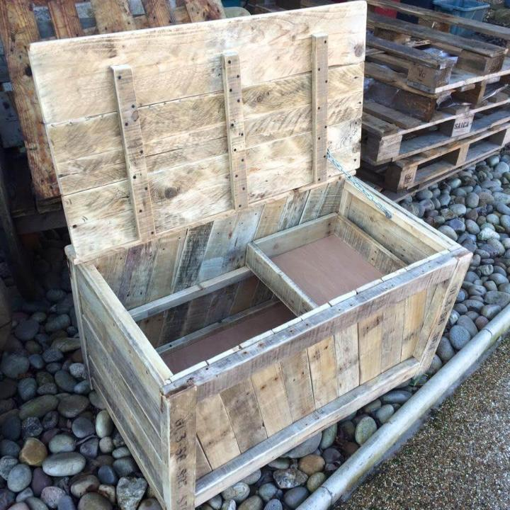Reclaimed pallet chest