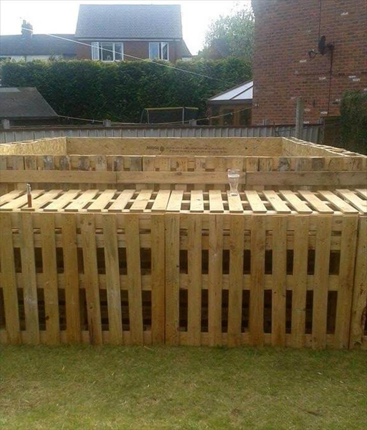 wooden 40 pallet outdoor swimming pool