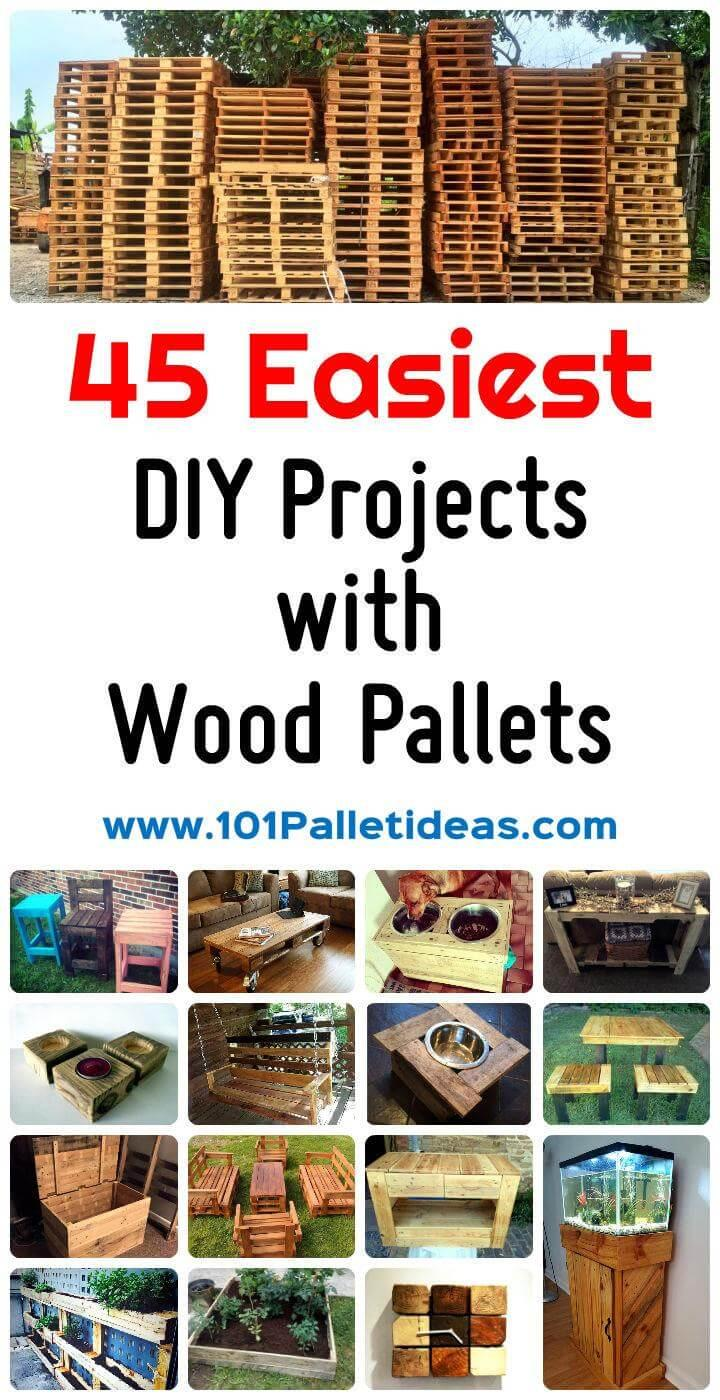 45 Easiest Pallet Projects You Can Build with Wood Pallets