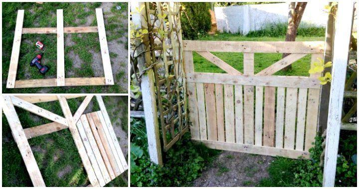 Diy Pallet Garden Fence Gate Easy Pallet Ideas