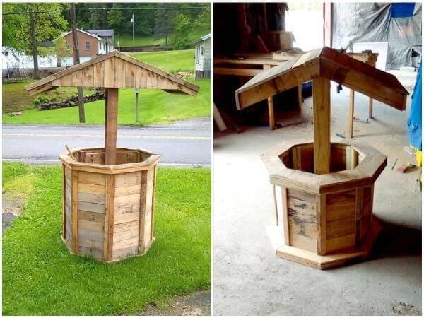DIY-Wooden-Pallet-Wishing-Well Pallet House Plans Well on pallet house 500, pallet signs, pallet wall, pallet ideas, pallet playhouse blueprints, pallet playground, pallet shelves, pallet outdoor christmas, pallet houses inside, pallet projects, pallet dog house, pallet photography, pallet wood outhouse, pallet house construction, pallet house already built, pallet furniture, pallet bathroom, playhouse plans, pallet playhouse for boy, pallet playhouse step by step,