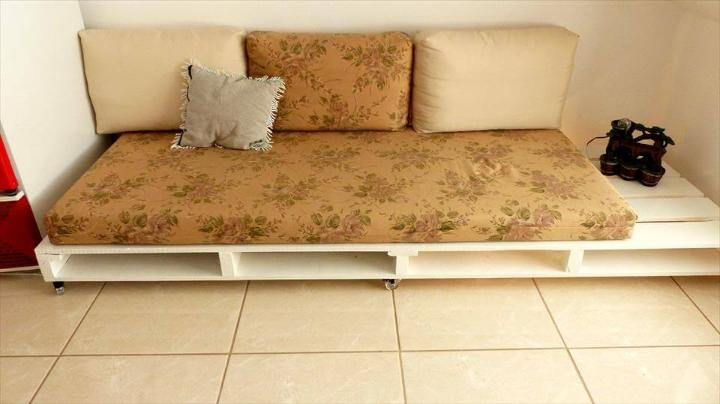 chic white pallet couch