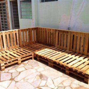 rustic wooden pallet sofa frame