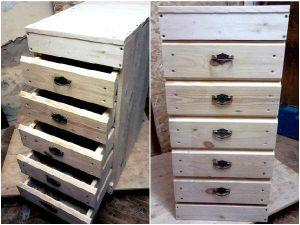 Pallet Chest of Drawers – 100% Pallets