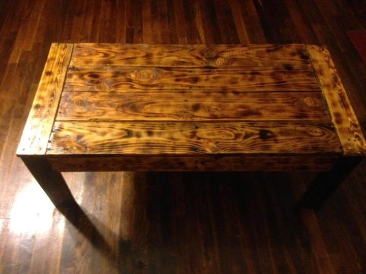 antique wooden pallet coffee table