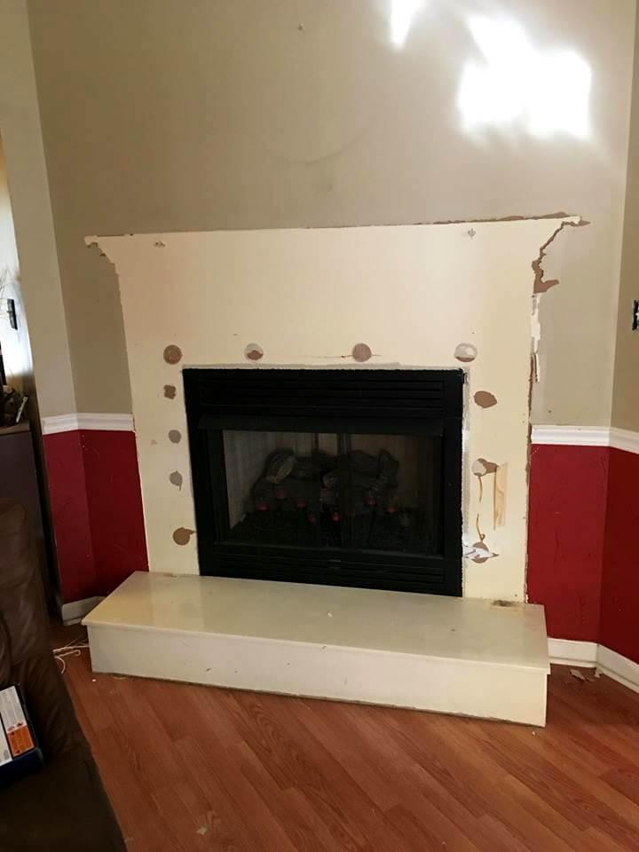 before preview of fireplace