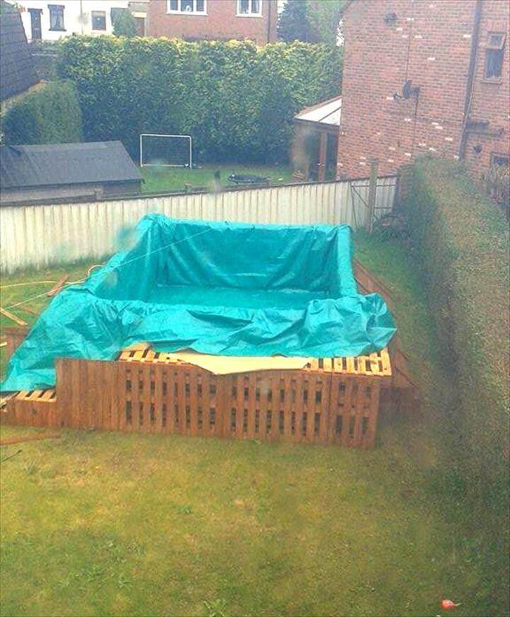 adding the pool cloth tarp