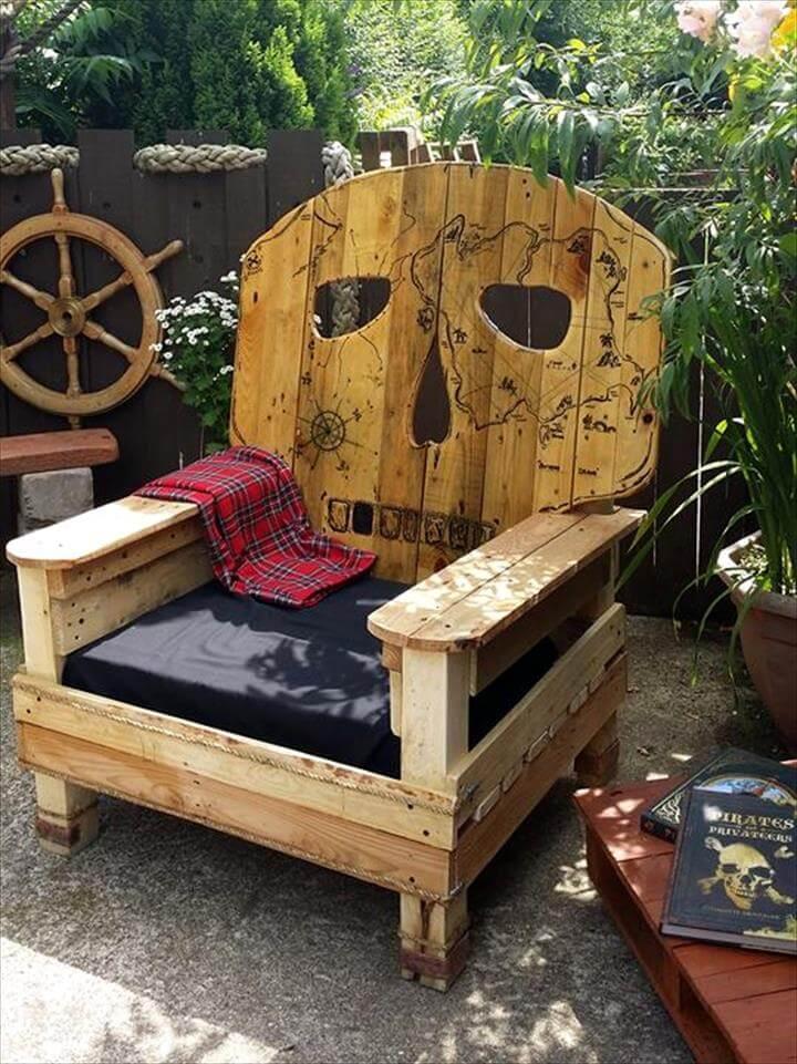 handmade wooden pallet humanoid chair
