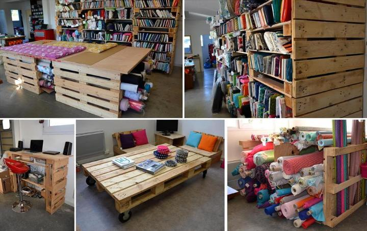 diy wooden pallet creative storage and table ideas