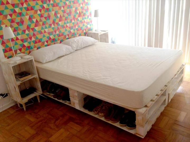 pallet king bed with storage