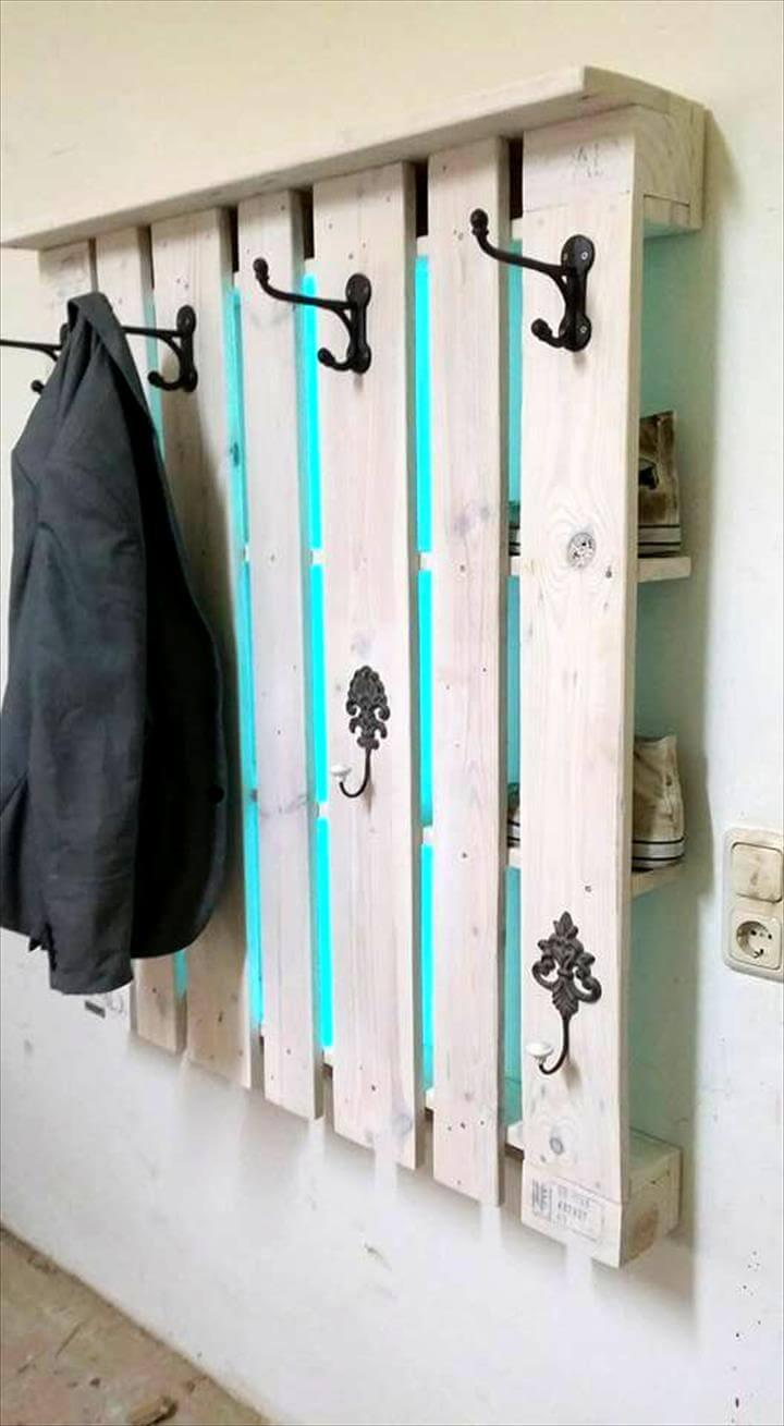 Rustic Inspired Pallet Coat Rack Easy Pallet Ideas