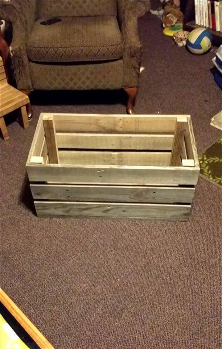 easy & simple wood pallet toy box - easy pallet ideas