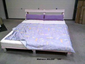 custom wooden pallet platform bed