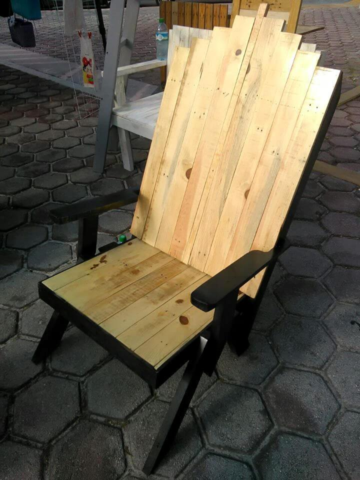 upcycled pallet kind chair