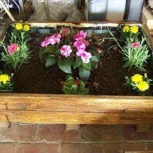 handmade pallet garden planters