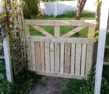 custom wooden pallet garden fence gate
