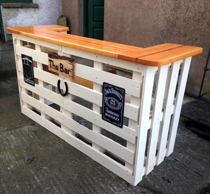 wooden pallet custom bar