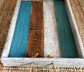 custom wooden tray made of pallets