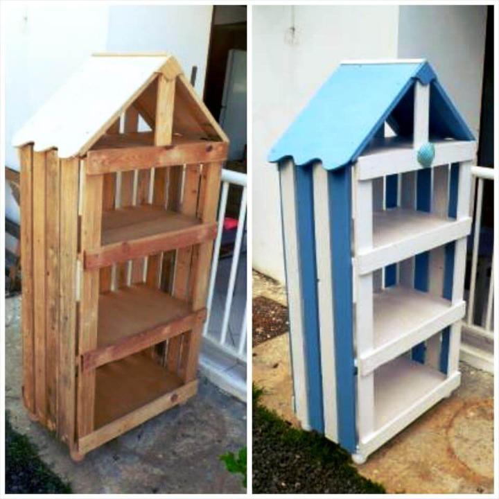 handcrafted wooden pallet birdhouse
