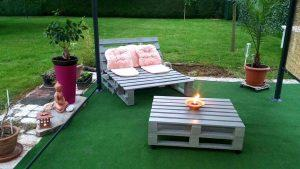 Pallet Sofa Chair & Coffee Table