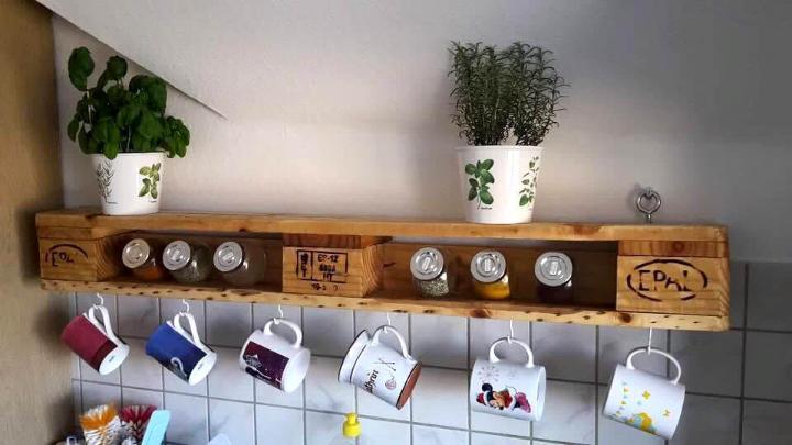 diy pallet custom tea rack