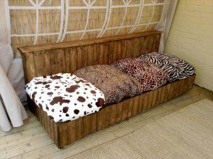 handcrafted pallet sofa