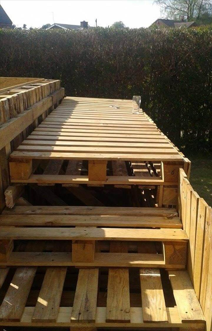 Installing The Pallet Pool Stair Steps